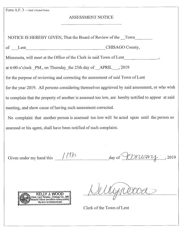 BOA Notice