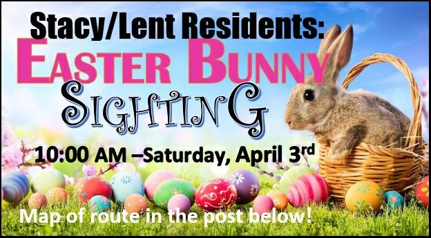 Easter Bunny Route