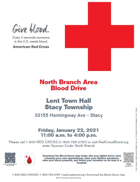Blood Drive 11am - 4pm at the Town Hall