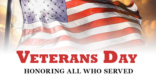 Closed in Observance of Veterans Day